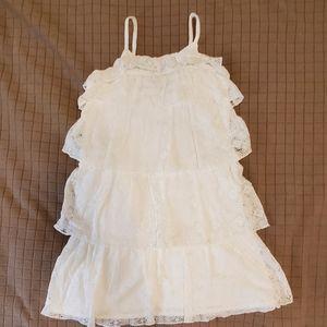 Baby GAP White Lace tiered ruffle Sundress